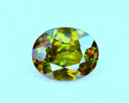 1.79Carat full fire Chrome Color Change Sphene cut Gemstone@Pakistan
