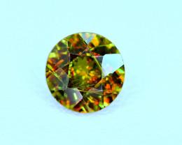 1.50Carat full fire Chrome Color Change Sphene cut Gemstone@Pakistan