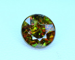 1.66Carat full fire Chrome Color Change Sphene cut Gemstone@Pakistan