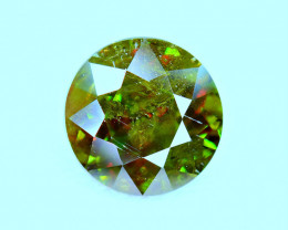 2.57Carat full fire Chrome Color Change Sphene cut Gemstone@Pakistan