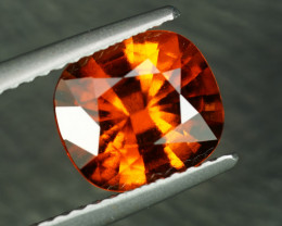 NEON WHISKY 2.47 CUSHION CUT HESSONITE GARNET $1NR!