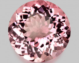 Flawless, high gem quality Brazilian neon pink Morganite.
