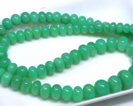164.70 CTS CHRYSOPRASE BEAD STRAND NP-2787