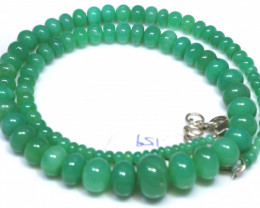 159.20 CTS CHRYSOPRASE BEAD STRAND NP-2789