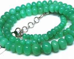 161.30 CTS CHRYSOPRASE BEAD STRAND NP-2793