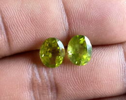 Peridot Pair 100% Natural+Untreated Gemstones VA4455