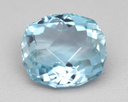 Aquamarine 7.84Ct Natural Precision Cut Blue Santa Maria Aquamarine A0502