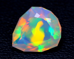 2.52Ct Master Cut Natural Ethiopian Flash Color Welo Opal C0501