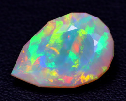 5.74Ct Master Cut Natural Ethiopian Flash Color Welo Opal C0504