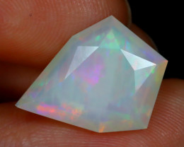 3.01Ct Master Cut Natural Ethiopian Flash Color Welo Opal C0518