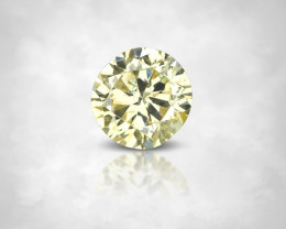 NO RESERVE ! 0.12 Ct Fancy Yellow Natural Diamond Round 3.2 mm