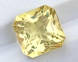 7.10 Ct Natural Yellow Transparent Flower Cut Citrine Gemstone