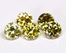 Yellowish Green Diamond 0.32Ct 2.5mm Natural Genuine Diamond Lot B26