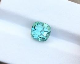 2.62 Ct Natural Blueish Sea Foam Color Transparent Tourmaline Gemstone