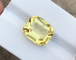 7.40 Ct Natural Yellow Transparent Citrine TOP Quality  Gemstone
