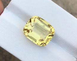 7.40 Ct Natural Yellow Transparent Citrine TOP Quality  Gemstone