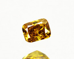 0.10 Cts Natural Untreated Diamond Fancy Yellow Octagon Cut Africa