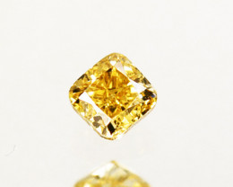 Splendid!! 0.13 Cts Natural Untreated Diamond Fancy Yellow Octagon Cut Afri
