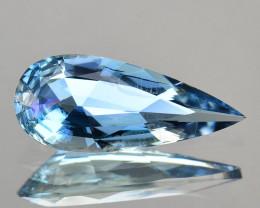 1.37 Cts Fabulous Natural Beautiful Blue Aquamarine Pear Cut Ref VIDEO