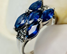 SAPPHIRE FROM LAOS WHITE TOPAZ RING WITH  , FROM COLLECTOR- UNUSED!
