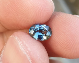 UNHEATED CERTIFIED 1.12 CTS TOP QUALITY GREENISH BLUE SAPPHIRE MADAGASCAR