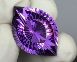 35.45 CT WOW EXTREMELY RARE ANGLE EYE CUT INDONESIAN AMETHYST