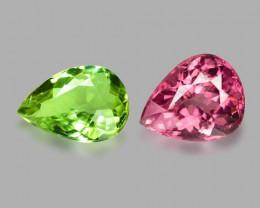 *NoReserve*Tourmaline 2.47 Cts 2 Pcs Natural Fancy Mix Color Loose Gemstone