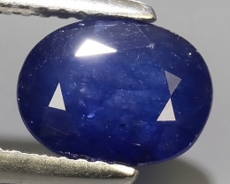 2.60 Cts Natural Intense Beautiful Blue Sapphire Oval Shape From MADAGASCAR