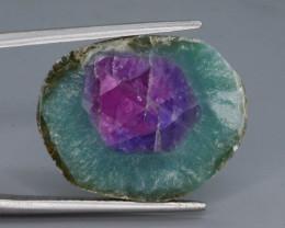 Rarest 11.40 ct Trapiche Pink Kashmir Sapphire Slice ~ T
