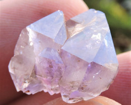 3.43g TERMINATED AMETHYST CRYSTAL WITH HEMATITE INCLUSIONS TESHOVO BULGARIA