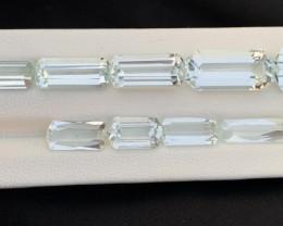 43.85 carats natural aquamarine lot