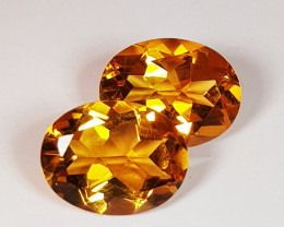 Parcel Pair of 3.57 ct Top Quality Gem Oval Cut Natural Citrine