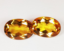 Parcel Pair of 3.51 ct Top Grade Gem Oval Cut Natural Citrine