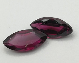 Rhodolite pair, 1.5ct, awesome stones for a reasonable price!