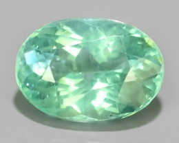 1.35 cts~Surprising Oval Outstanding Unheated Natural Apatite Green!