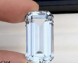 Out class 27.80 Natural Fancy Cut Aquamarine Gemstone