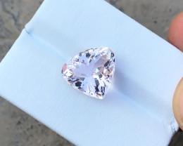 6.20 Ct Natural Light Pinkish Transparent Heart Shape Kunzite Gemstone