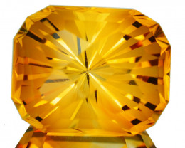 ~CUSTOM CUT~ 7.22 Cts Natural Golden Orange Citrine Fancy Cushion Brazil