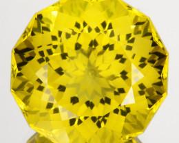 ~CUSTOM CUT~ 20.69 Cts Natural Lemon Quartz Mind Blowing 16.50mm  Round Bra