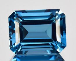 3.93 Cts Natural London Blue Topaz 10 X 8mm Emerald Cut