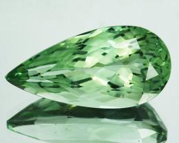 ~CUSTOM CUT~ 8.71Cts Natural Green Prasiolite / Amethyst Pear Fancy Br
