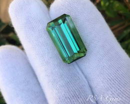 Bluegreen Tourmaline - 17.10 carats