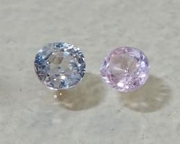 1.26ct unheated sapphires