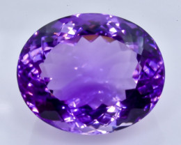 27.19 Crt Natural Amethyst  Faceted Gemstone.( AB 98)