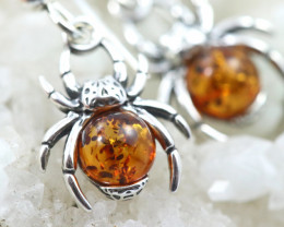 Natural Baltic Amber Earrings   code GI 1693