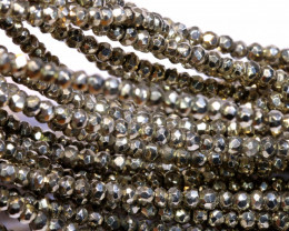 53.90 - CTS FACETED PYRITE  BEADS STRAND NP-2799