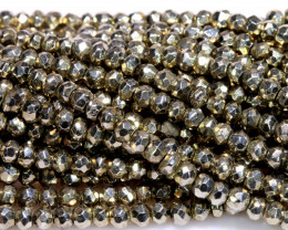 53.00 - CTS FACETED PYRITE  BEADS STRAND NP-2808