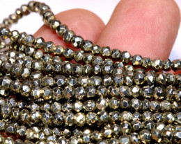 53.00 - CTS FACETED PYRITE  BEADS STRAND NP-2813