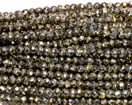 53.00 - CTS FACETED PYRITE  BEADS STRAND NP-2821