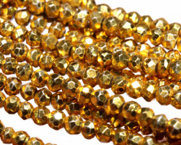 53.00 - CTS FACETED PYRITE  BEADS STRAND NP-2827